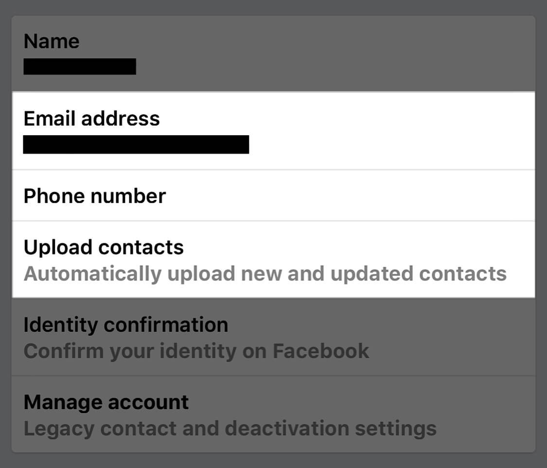 A screenshot showing the personal settings you should change on Facebook to protect your privacy.