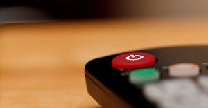 A smart TV remote.