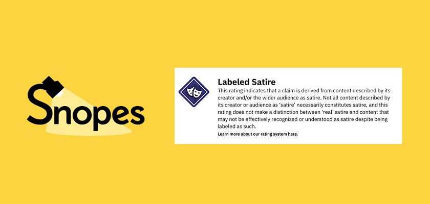 Snopes Faces Criticism Over Its New Labeled Satire Rating