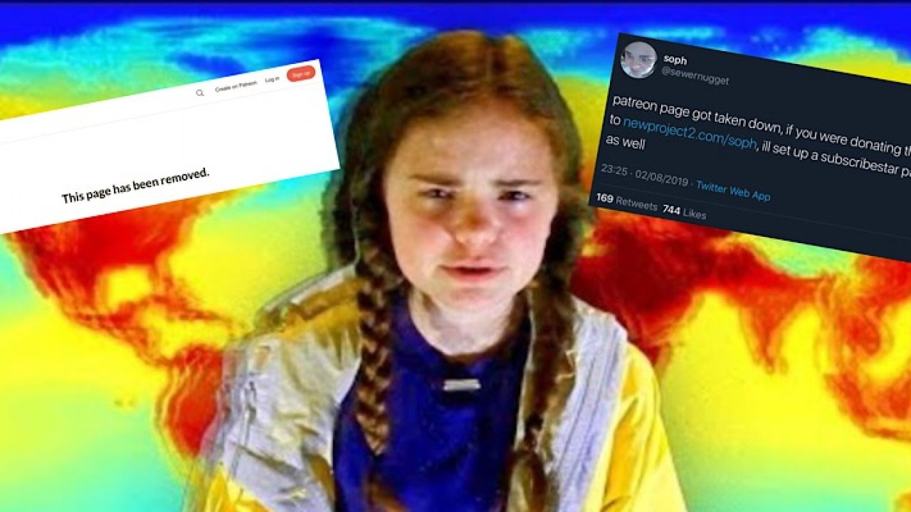 Patreon Suspends Soph S Account One Day After Youtube Deleted Her