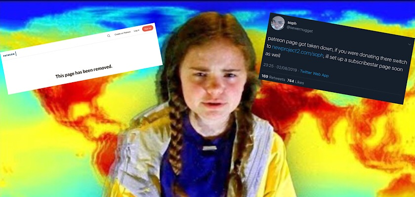 Patreon suspends Soph's account one day after YouTube