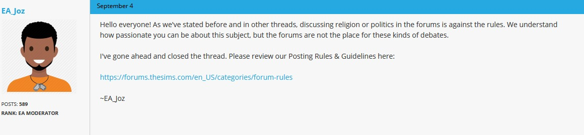 EA censors forums to silence backlash after adding Muslim
