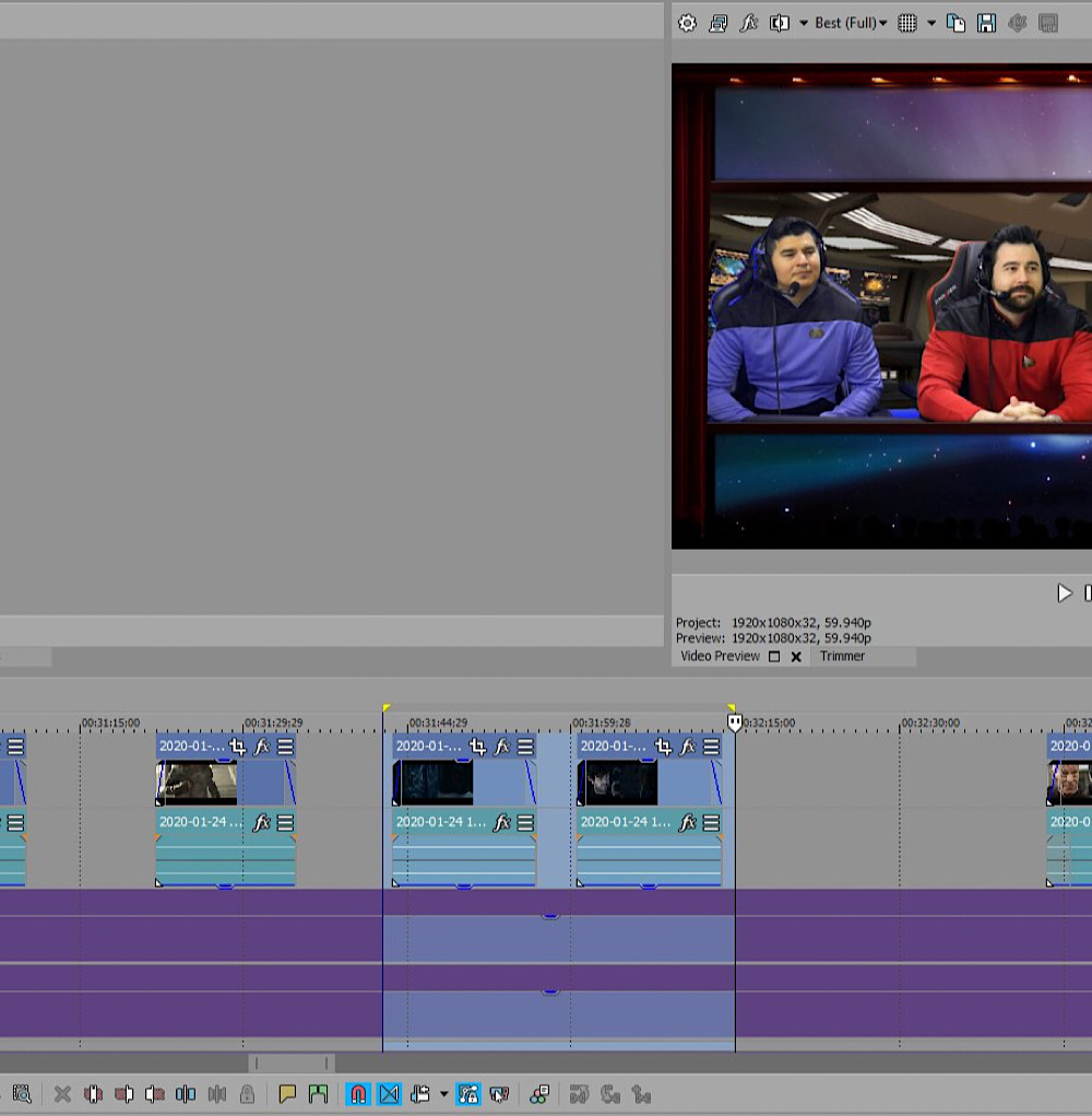 Vargas included two 13 second clips from the Picard trailer in his video during these timestamps (Twitter - @AngryJoeShow)