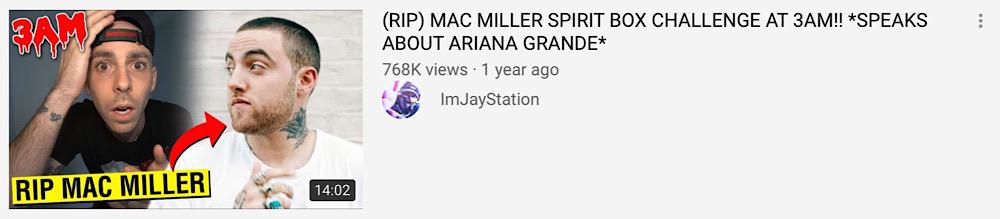 "JayStation uploaded a Mac Miller ""spirit box challenge"" the day after his death (YouTube - ImJayStation)"