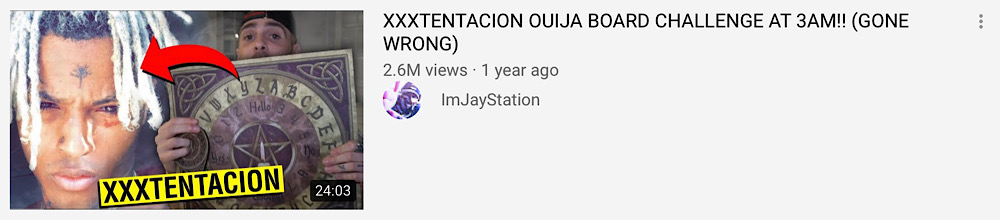 """JayStation uploaded a XXXTentacion """"ouija board challenge"""" the day after his death (YouTube - ImJayStation)"""