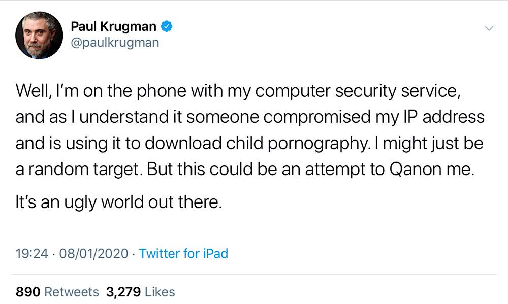 Взломали IP-адрес у нобелевского лауреата значит, бггг