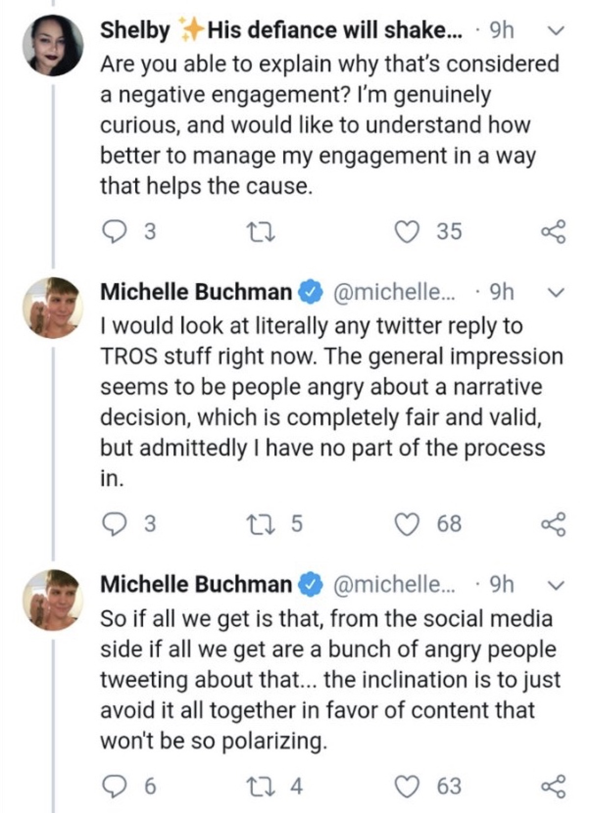 Buchman said the inclination is to avoid this type of content in favor of something less polarizing (Twitter - @saltandrockets)