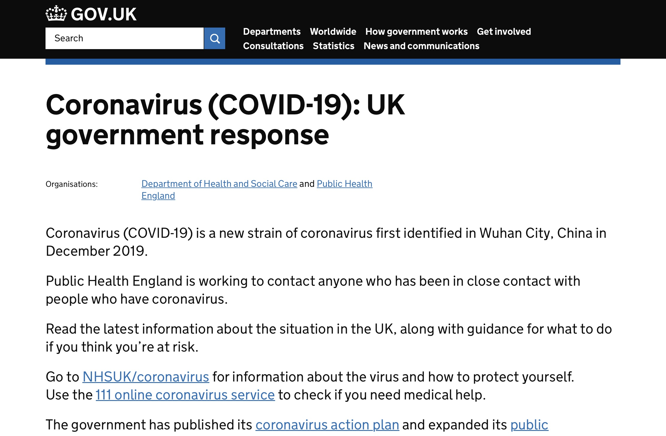These YouTube desktop notifications direct UK users to a government coronavirus response page