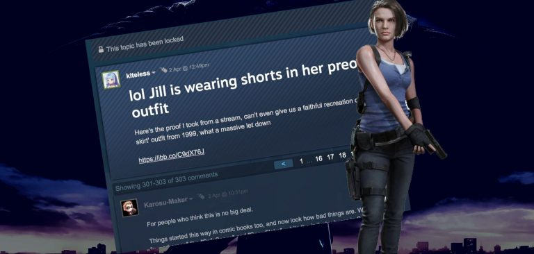 Steam Threads Criticizing Jill S Resident Evil 3 Outfit Changes Are Locked Censored By Mods