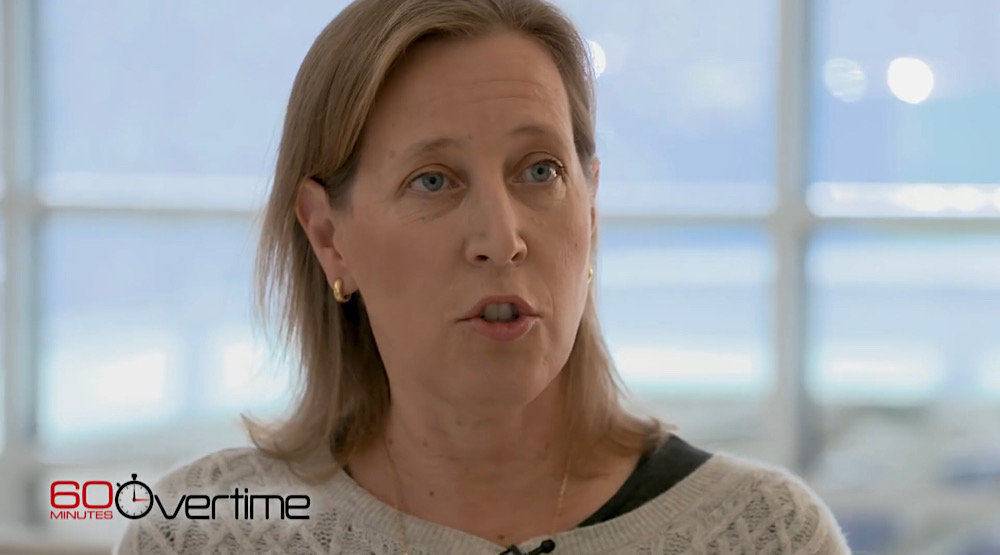 Susan Wojcicki told 60 Minutes Overtime that YouTube won't recommend YouTubers for breaking news (YouTube - 60 Minutes Overtime)