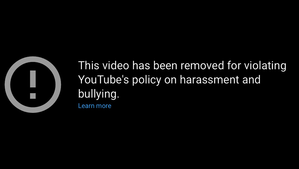 """""""Boo-Hoo for Poor Little Suzy Lu..."""" and """"Karma Comes Down Hard on Suzy Lu"""" were flagged and removed from the Tipster News YouTube channel"""