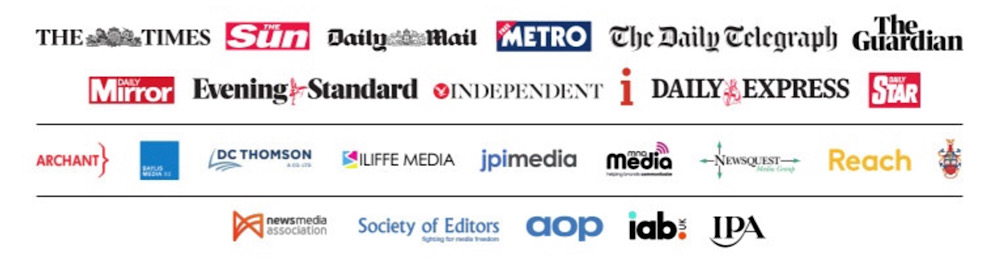 The open letter was signed by 25 UK newspapers and media groups including The Guardian, The Independent, The Times, and The Daily Telegraph
