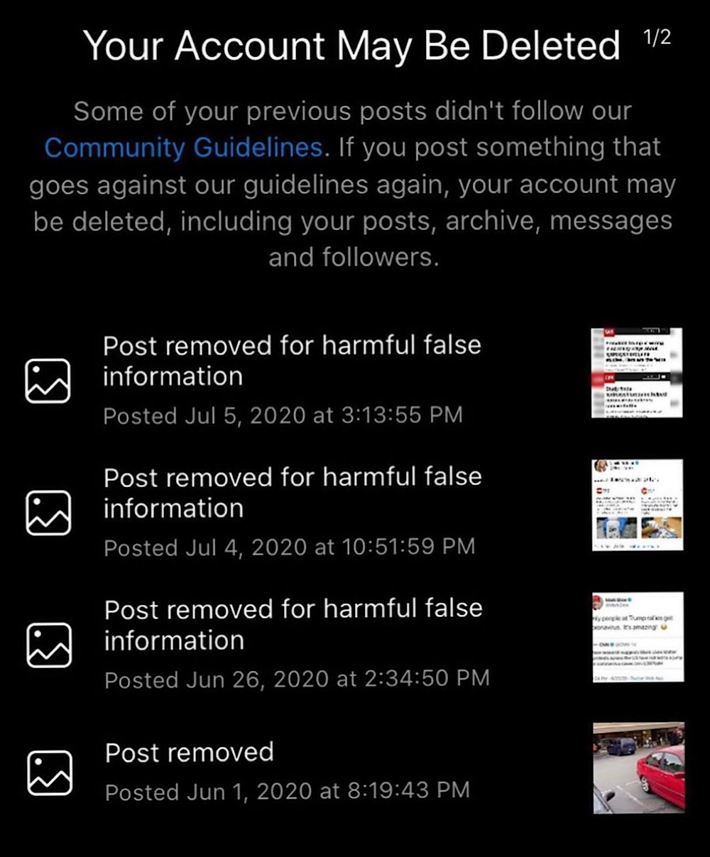 Instagram warned Donald Trump Jr. that his account may be deleted (Instagram - @donaldtrumpjr)