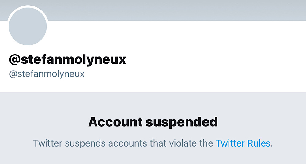 Twitter has suspended Stefan Molyneux after nine years on the platform (Twitter - @stefanmolyneux)