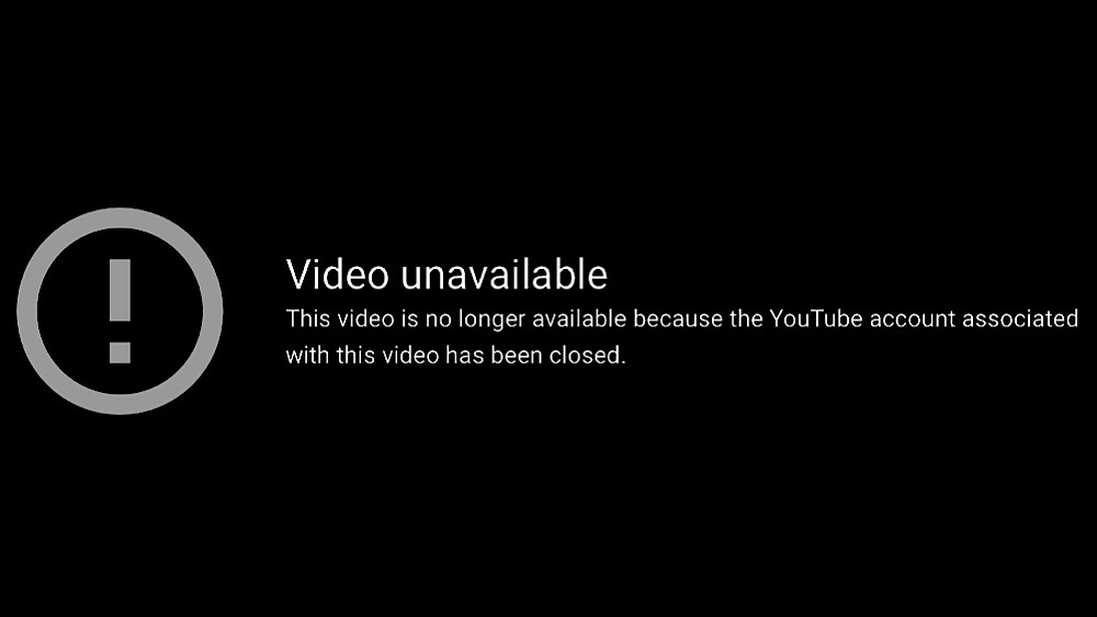 """Press For Truth's old videos now display a message that says """"This video is no longer available because the YouTube account associated with it has been closed"""" (YouTube - Press For Truth)"""