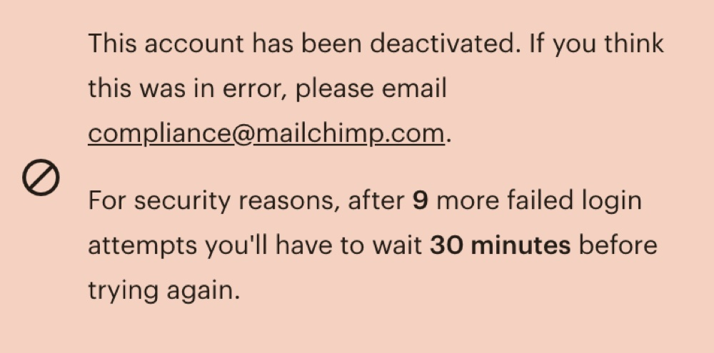 Mailchimp sent this message to SGTreport (Twitter - @SGTreport)