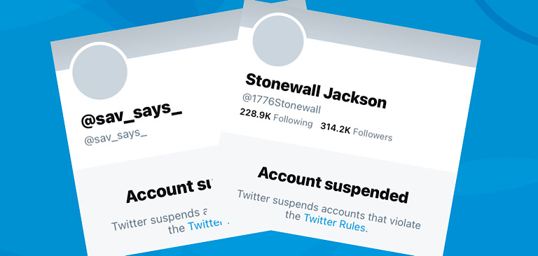 """Twitter suspends Savanah Hernandez and """"Stonewall Jackson"""" after they're retweeted by President Trump"""