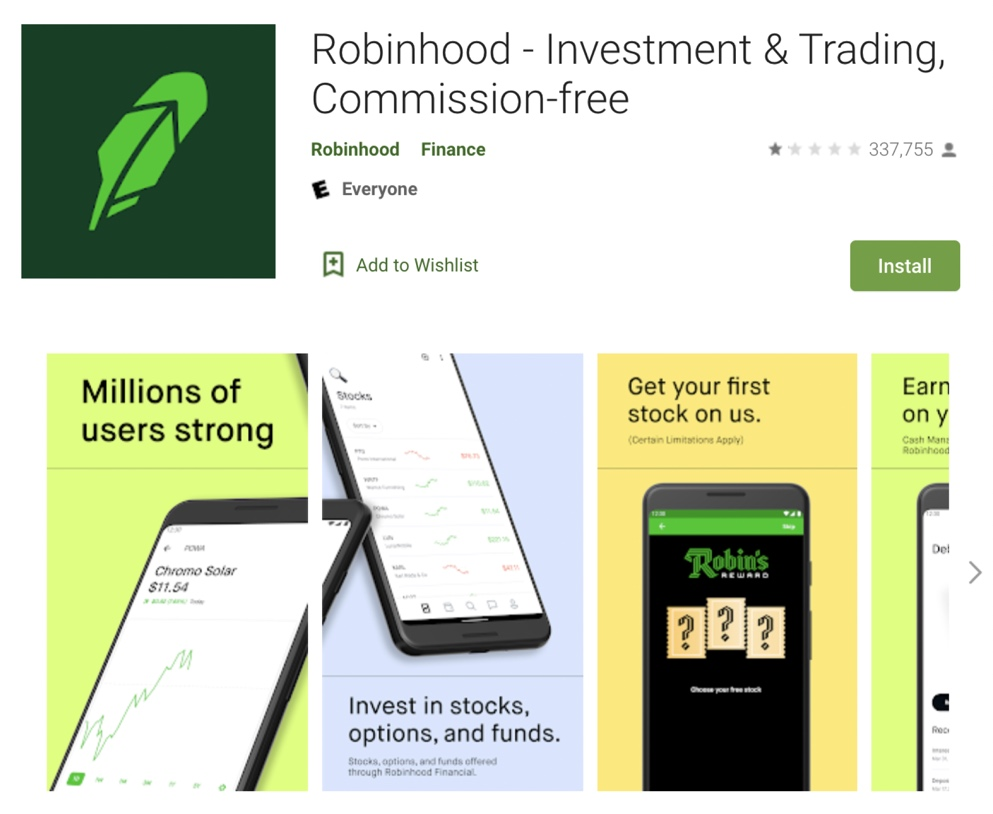 Robinhood's overall Google Play rating dropped to 1 star after it banned trades on GameStop and other trending stocks