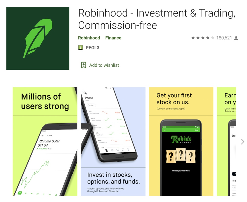 Robinhood's overall Google Play rating increased to 3.5 stars after Google purged over 100,000 reviews