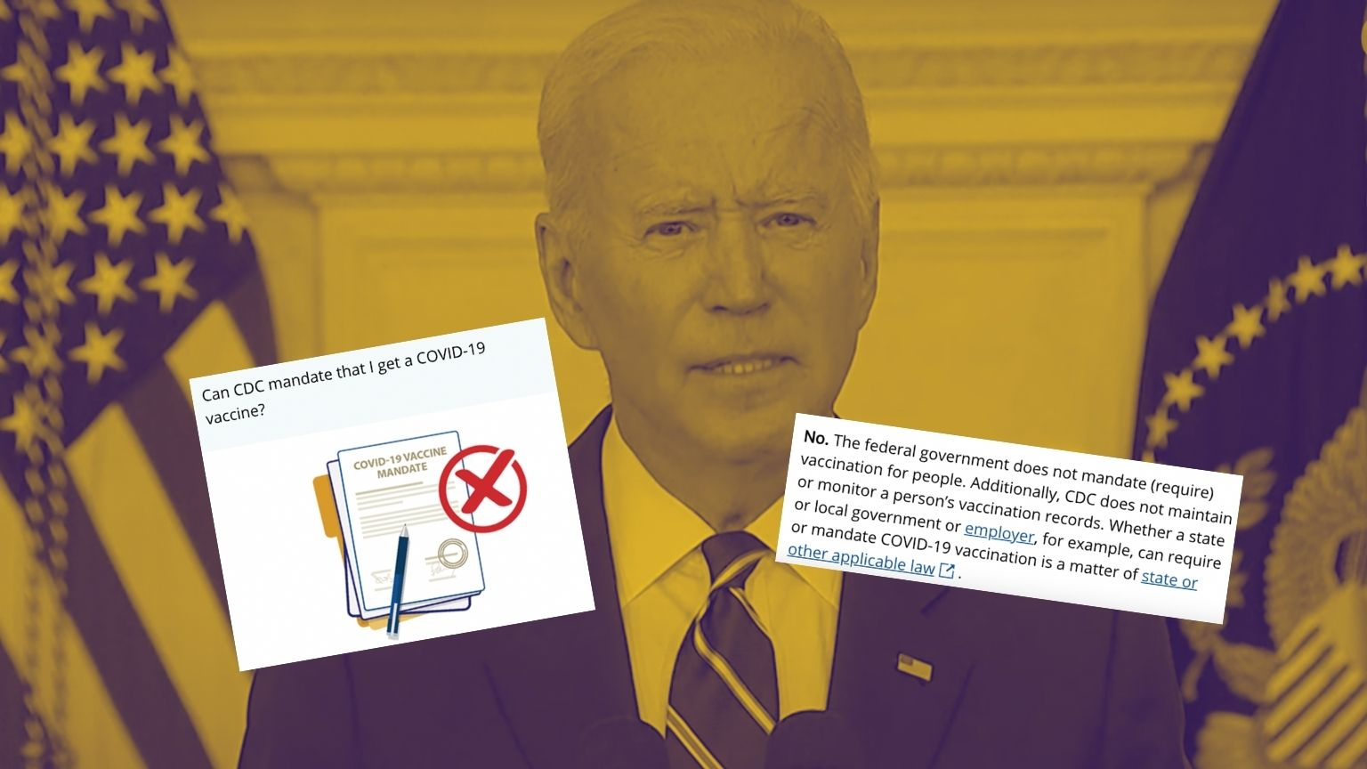 Platforms censored posts saying Biden could introduce federal vaccine mandate as CDC's own fact check denied it
